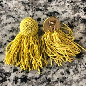 Zara Jewelry - Zara Yellow Beaded Earrings